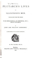Plutarch s Lives of Illustrious Men PDF