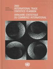 International Trade Statistics Yearbook: Volume 1