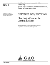 Defense Acquisitions: Charting a Course for Lasting Reform: Congressional Testimony