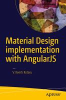 Material Design Implementation with AngularJS PDF