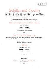 Schiller und Goethe im urtheile ihrer zeitgenossen: Bd. 3. Goethe. 1802-1812