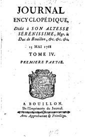 Journal encyclopédique ou universel: 1768, 4