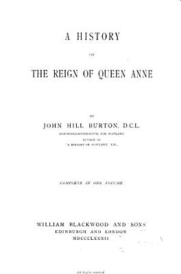 A History of the Reign of Queen Anne PDF