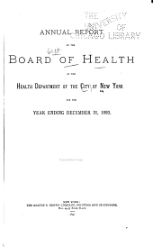 Annual Report of the Department of Health of the City of New York