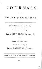 Journals of the House of Commons: Volume 9