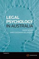 Legal Psychology in Australia Book
