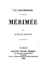Mérimée: Les contemporains