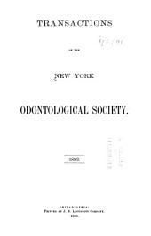 Transactions of New York Odontological Society