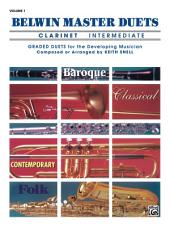 Belwin Master Duets - Clarinet, Intermediate, Volume 1: Volume 1