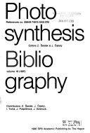 Photosynthesis Bibliography PDF