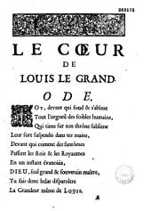 Le Coeur de Louis le Grand: ode
