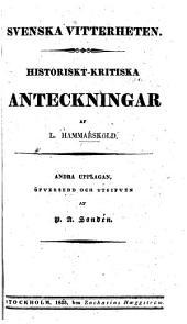 Svenska vitterheten: Volym 1,Utgåva 1