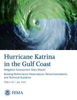 Mitigation Assessment Team Report  Hurricane Katrina in the Gulf Coast  Building Performance Observations Recommendations and Technical Guidance PDF