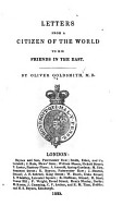 Letters from a Citizen of the World to His Friends in the East PDF