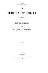 La Biblioteca universitaria di Genova: cenni storici