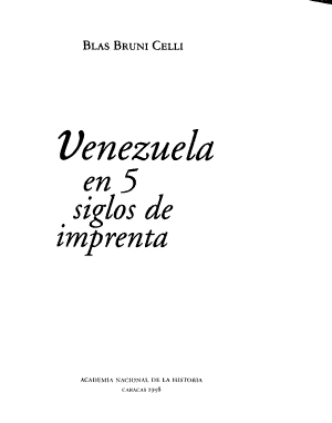 Venezuela en 5 siglos de imprenta PDF
