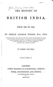 The History of British India: Volume 7