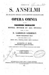 *Patrologiae latinae: 158: S. Anselmi ex Beccensi abbate Cantuariensis archiepiscopi opera omnia