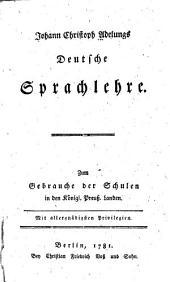 Johann Christoph Adelungs deutsche sprachlehre