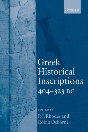 Greek Historical Inscriptions