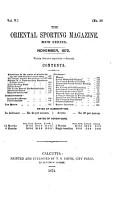 The Oriental Sporting Magazine PDF