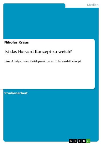 Ist das Harvard Konzept zu weich  PDF