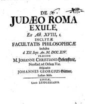 De Judaeo Roma exule ex Act. XVIII, 1