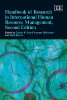 Handbook of Research in International Human Resource Management PDF