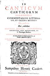 In Canticum Canticorum Salomonis Commentarius litteralis