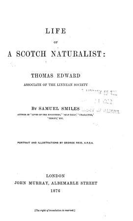Life of a Scotch Naturalist PDF