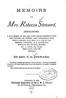 Memoirs of Mrs  Rebecca Steward  Containing PDF