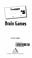 The Pocket Idiot s Guide to Brain Games PDF