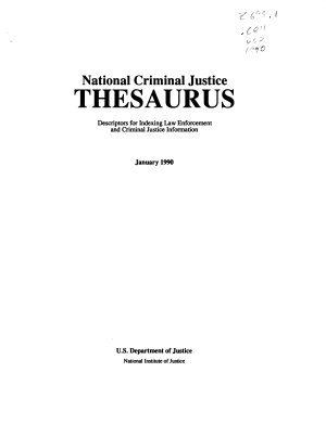 National Criminal Justice Thesaurus PDF