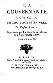 Oeuvres de theatre de M. Avisse: contenant ses comédies ...