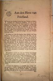 Copie. Aan den Hove van Friesland