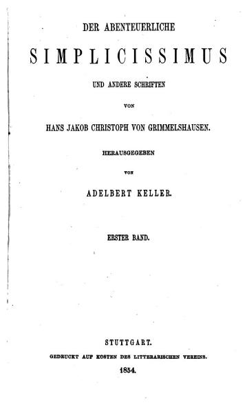 Der abenteuerliche Simplicissimus und andere Schriften  Bd  Simplicissimus  Buch 1 4