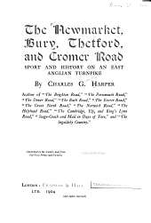 The Newmarket, Bury, Thetford, and Cromer Road: Sport and History on an East Anglian Turnpike