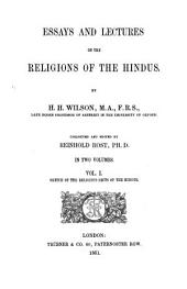 Sketch on the religious sects of the Hindus: Volume 1