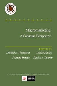 Macromarketing  A Canadian Perspective PDF