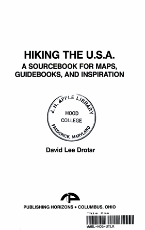 Hiking the U S A  PDF
