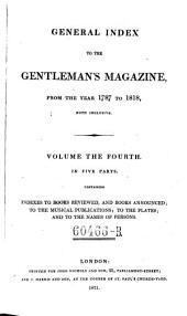 General Index to the Gentleman's Magazine: Volume 4
