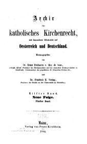 Archiv für katholisches Kirchenrecht: Band 11