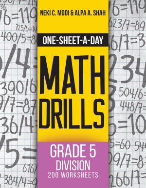 One Sheet A Day Math Drills PDF
