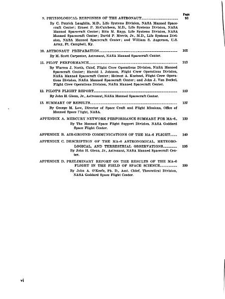 Results of the First United States Manned Orbital Space Flight PDF