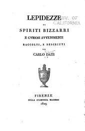 Lepidezze di spiriti: bizzarri e cvriosi avvenimenti raccolti