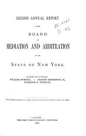 Annual Report of the Board of Mediation and Arbitration of the State of New York