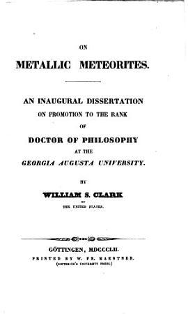 On Metallic Meteorites PDF