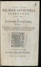 In epistolam Iudae Apostoli brevis notae