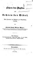 Lehren des Papstes und Lehren der Bibel PDF