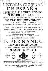 Historia general de España, dividida en tres tomos,